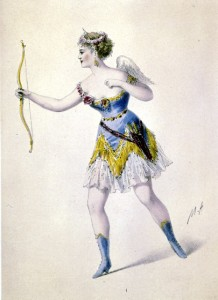 Design for Cora Pearl's costume for her appearance in Offenbach's Orpheus in the Underworld